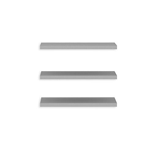 Newface set van 3 legplanken smal passend bij kledingkast, grijs, één maat