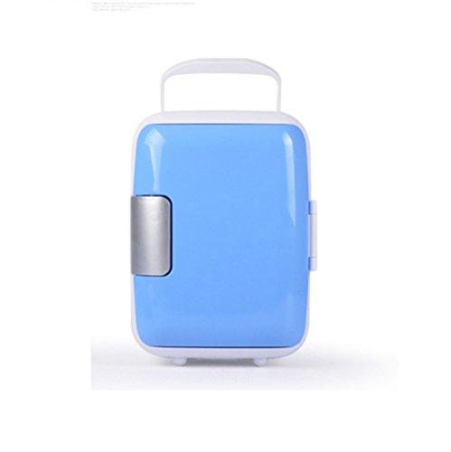 DENKD 4 litros (AC/DC) Refrigerador de coche12V Nevera Camping Nevera Furgoneta Nevera Camper (Azul)