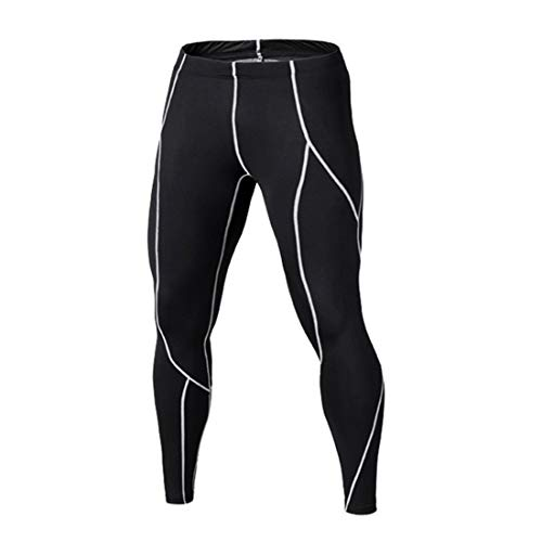 Fliegend Legging Home Compression Running Pantalon de Sport Collant Pantalons Fonctionnels Leggings de Fitness Football Basketball XL