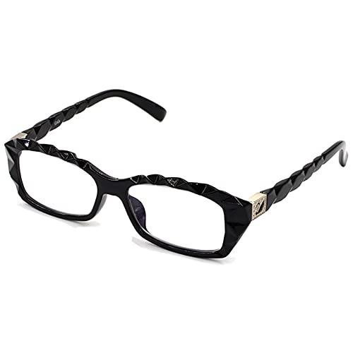 YHPD Gafas De Lectura 1.0 1.5 2.0 2.5 3.0 3.5 4.0 Gafas De De Bloqueo De Luz Azul Impresas A La Moda Lectores De Computadora Cómodos, Negro/Carey