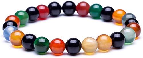 AnimeFiG Pulsera de Piedra Mujer, 7 Chakra Piedra Natural Beads Turmalina Elástico Brazalete Joyería Yoga Energía Inspiración Encanto Difusor Mujer Pulsera Regalo para un Amigo