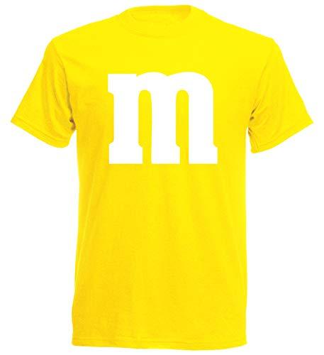 aprom Camiseta para Carnaval M M Disfraz de Grupo Disfraz JGA Party MM