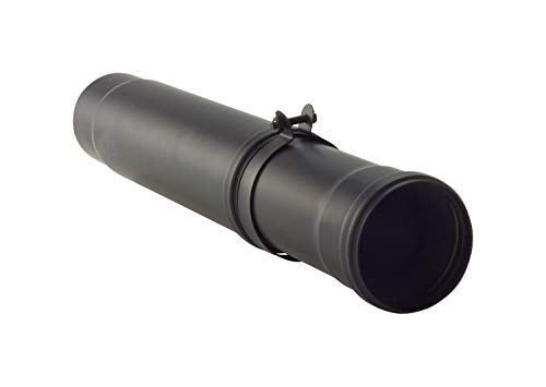 AdoroSol Vertriebs GmbH telescoopbuis 330 min. 410 max. 610 rookpijp Pellet in zwart, Ø 80 mm, kachelpijp voor pelletkachels