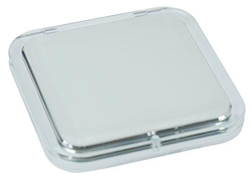 Fantasia Miroir de Poche rectangulaire en Plastique Blanc Double Face Grossissement x 7 8,5 x 8,5 cm