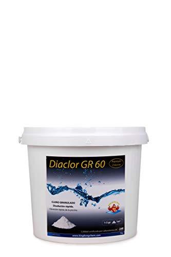 DIASA INDUSTRIAL Cloro rápido para Piscinas DIACLOR GR 60 5 KG - Cloro granulado de disolución rápida