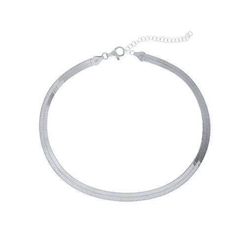DARK DIAMOND - Collar plano en Plata de Ley 925 bañado rodio o en oro de 18K. (Oro)