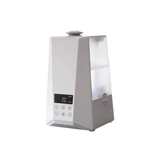 PowerPure 5000 Warm & Cool Mist Ultrasonic Humidifier - Permanent Filter - LCD Display - Remote Control - White