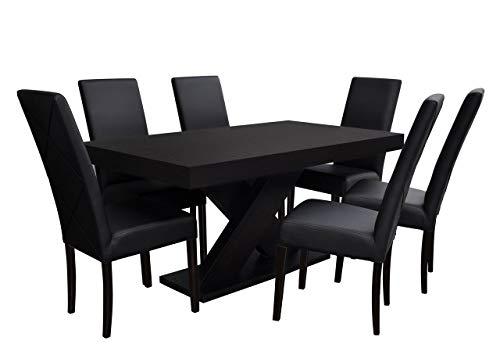 Mirjan24 Esstisch Stuhl Set RB06 Essgruppe, Tischgruppe, Große Farb- und Materialauswahl, Sitzgruppe Esstischgruppe, Esszimmergarnitur (Wenge, Soft 011)