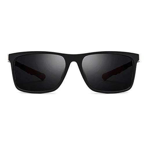 DKee Gafas de Sol UV400 Negro Ultra Ligero TR90 Gafas De Sol Deportivas Antideslizantes Resistentes A Roturas Gafas Telescópicas Telescópicas Colgando del Cuello Gafas De Sol Cuadradas