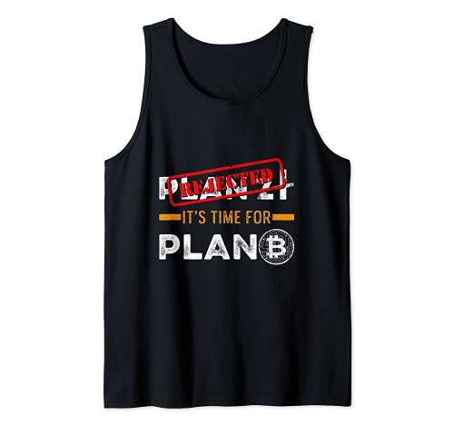 Plan B Criptomoneda BTC Blockchain Zloty Polaco Dinero Camiseta sin Mangas