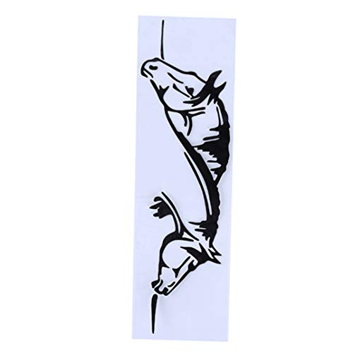 JOOFFF Horse Car Aufkleber Spezielle Creatives Pferde grafische Auto Aufkleber Tier Styling Auto reflektierende Aufkleber Auto Fenster Aufkleber, schwarz