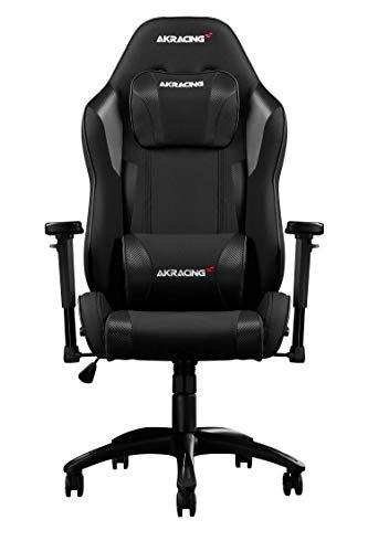 AKRacing Chair Core EXSE Gaming Stuhl, Stoff/Kunstleder, Schwarz, One Size