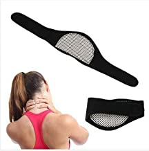 RONTENO Neck Guard Self-Heating Brace Magnetic Therapy Wrap For Men & Women, Black Color