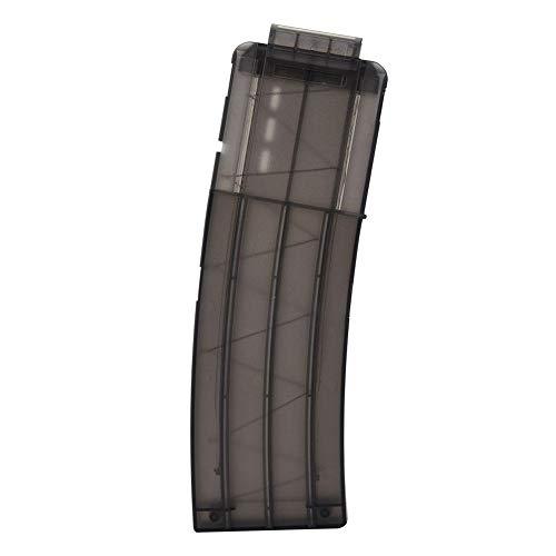 Nitrip 15 Darts Soft Bullet Magazine Clip Holder Ersatzpistole Zubehör (Transparent Schwarz)