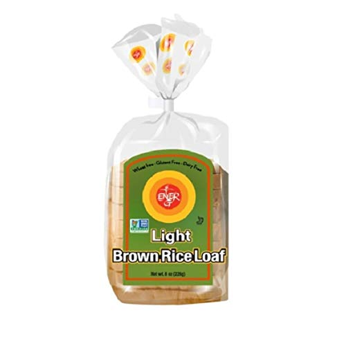 Gluten Free Light Brown Rice Loaf by Ener-G | Vegan Sliced Bread | Low-Calorie, Low-Carb, Low-Fat | Non-GMO, Kosher | Single Pack 8 oz/ 10 Slice Loaf