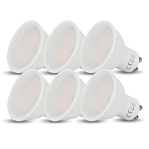 6 x Lampadina LED GU10 Faretto 5W (35W) , 400 Lumen, Fascio Luminoso110°, Non Dimmerabile [Classe di efficienza energetica A+] (Luce Naturale 4000k)