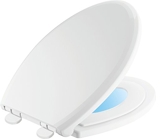 Delta Faucet 833902-N-WH Sanborne Elongated Potty Training Nightlight Toilet Seat with Slow Close and Quick-Release, White