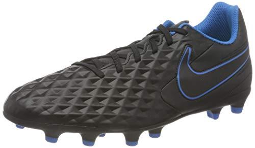Nike Herren Tiempo Legend 8 Club MG Football Shoe, Black/Black-Light Photo Blue-Cyber, 43 EU