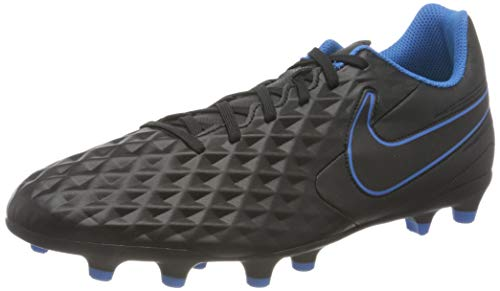 Nike Legend 8 Club FG/MG, Scarpe da Calcio Unisex-Adulto, Black/Black-lt Photo Blue-Cyber, 45.5 EU