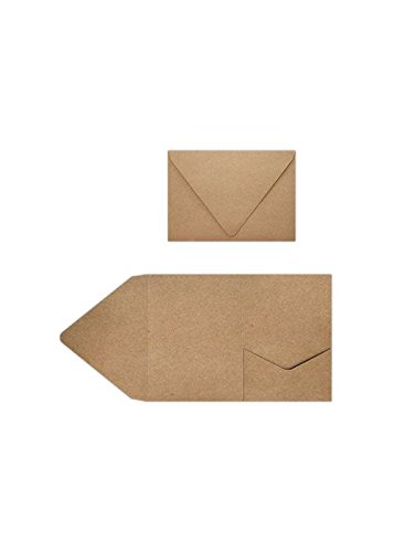 A7 Pocket Invitations (5 x 7) - 18pt. Grocery Bag Brown (30 Qty.)
