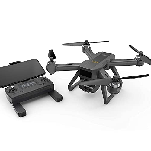 RC Drone 4K UHD Camera Brushless Motor, Profesional Drones Dron Quadcopter Gimbal WiFi FPV GPS Foldable Arm, Double Battery in Backpack