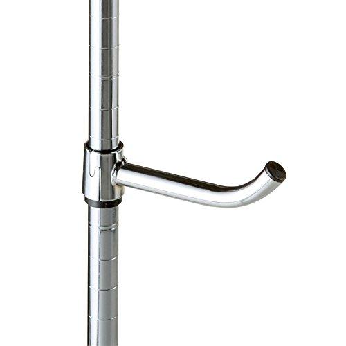 ルミナス スチールラック パーツ 後付け フック ポール径25mm用パーツ 幅3.5×奥行18.5×高さ6cm 25APF-15