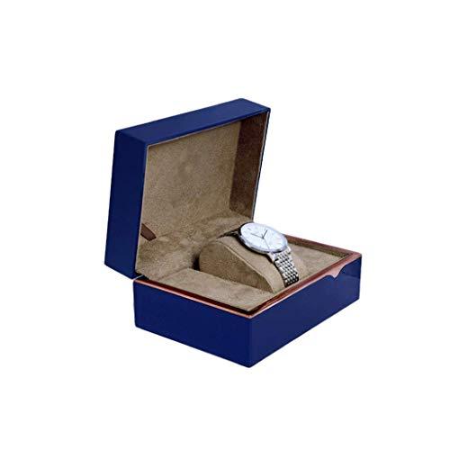 XZJJZ Joyería de la Caja de una Sola Ranura Caja de Reloj de la PU Reloj de Cuero de la Caja de visualización portátil Organizador Hombres Mujeres Viajar Pulsera de Regalo de la joyería Caja de Reloj