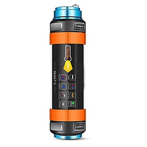 Maidi Linterna Camping, Tienda Portable LED de luz magnética, lámpara de Trabajo cilíndrica Bar como Linterna Banco/alimentación/Repelente de Mosquitos/SOS de Emergencia para Pesca