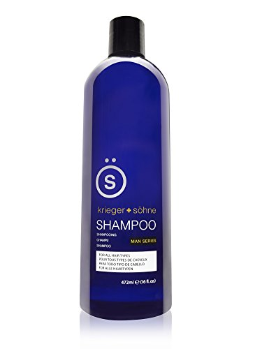 K + S Salon Quality Men's Shampoo - Tea Tree Oil Infused To Eliminate Dandruff, Dry Scalp, and Prevent Hair Loss - Professional Stylist Recommended (16 oz Bottle) by krieger + shne