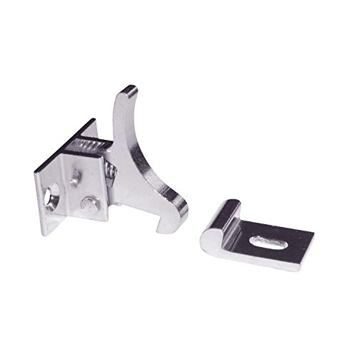 Rok Hardware Extra Heavy Duty Elbow Latch Cabinet Door/Window Catch - Nickel Finish with Screws