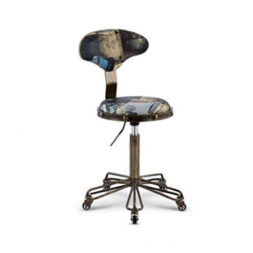 Kruk lounge kruk kruk kruk kruk kruk in hoogte verstelbaar met wieltjes industriële stijl stool E
