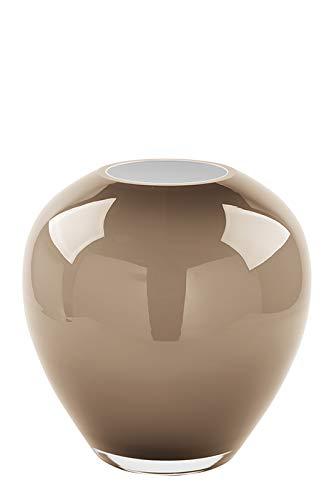 Fink Vase Losone - Glas mundgeblasen Opal beige H 20 cm D 20 cm