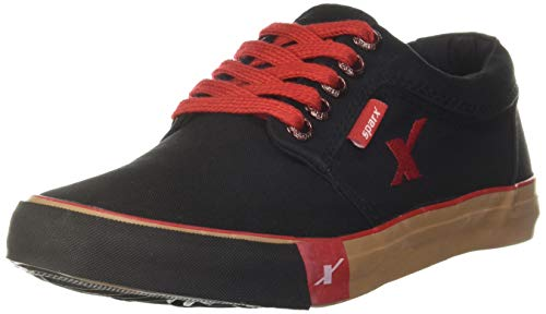 Sparx Men's SC0175G Black Canvas Sneakers - 6 UK/ (39 1/3 EU) (SC0175G_BKBK0006)