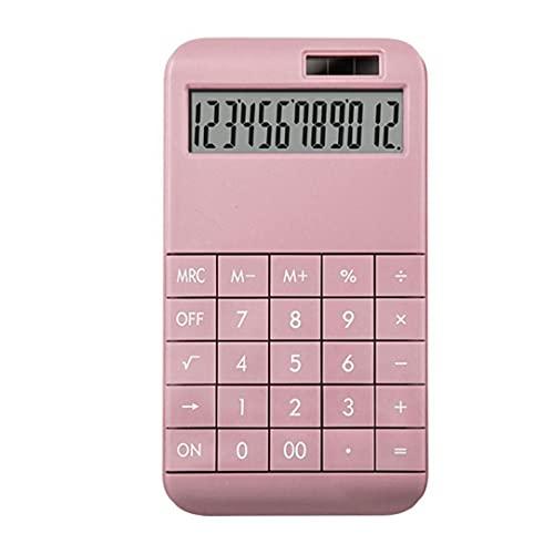 calculadora de escritorio, con 12 dígitos pantalla del monitor, para el Ministerio del Interior Uso Rosa, calculadora,