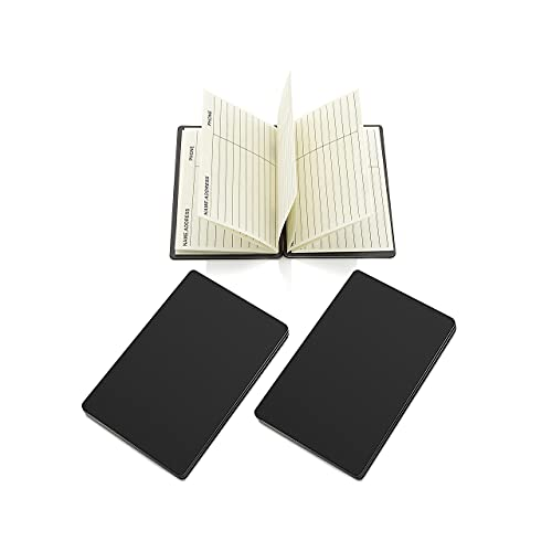 Magnetic Wallet Address Book - Credit Card Size Address Book - Pocket Address Book, Keep Contact Info Handy at All Times - Set of 2