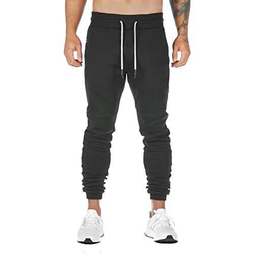 Overdose Pantalones Deportivos Casuales para Hombre Largos De Fitness Al Aire Libre Pantalones Slim Fit Gym Pantalon Cargo Hombre