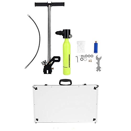 VGEBY Sauerstofftank Set, Tauchflaschen Set für Sauerstoffflaschen mit Hochdruckluftpumpe, Aluminiumgehäuse