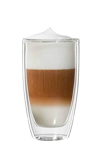 bloomix Roma Latte Macchiato 300ml, doppelwandige Thermo-Kaffeegläser im 2er-Set