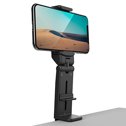 Phone Stand Holder Klealook Universal Cell Phone Mount 360 Degree Rotating Adjustable Phone Clamp Compatible with i'Phone X/XS/8Plus Android Google Phones for Airplane Trays Desk Bed Cabinet