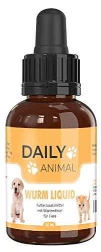 PowerSupps Daily Animal Wurm Liquid für Hunde, Katzen, Geflügel und Kaninchen bei WURMBEFALL – natürliches Mittel für Magen und Darm – vegan für Tiere