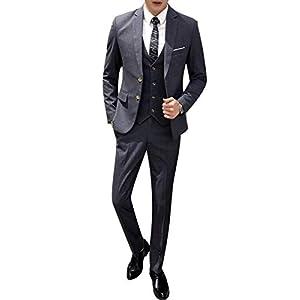 [CEEN] スーツ メンズ スリーピース 2つボタン スタイリッシュ ランダムストライプ