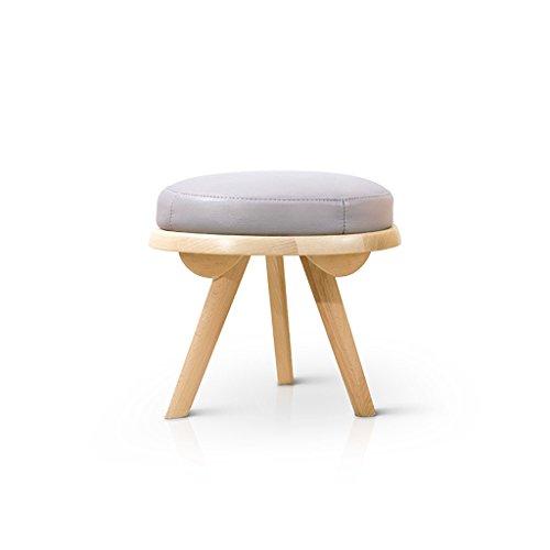 Fym Muebles Modernos de Estilo nórdico Taburete de Madera Maciza de Color sólido Serie de Sala de Estar Creativa de Taburete, diámetro de la Zona de Descanso de 40 cm