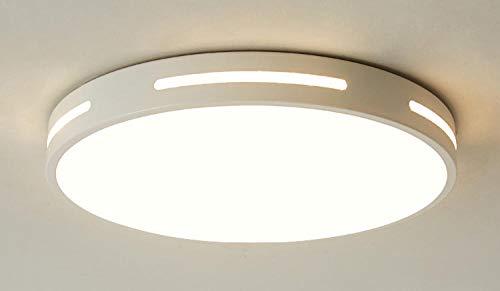 Moderne led-afstandsbediening dimmen plafondlamp creatieve ronde plafondlamp decoratieve verlichting voor studie slaapkamer woonkamer Foyer @wit_Dia50X5Cm-36W_warmwit