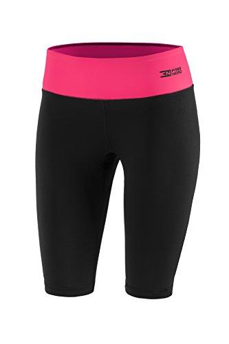 Leggings Fittech Performance para mujer, termoactivos, medias, mallas, pantalones cortos para correr para fitness, pilates, ciclismo, running, actividades al aire libre, negro / rosa, small