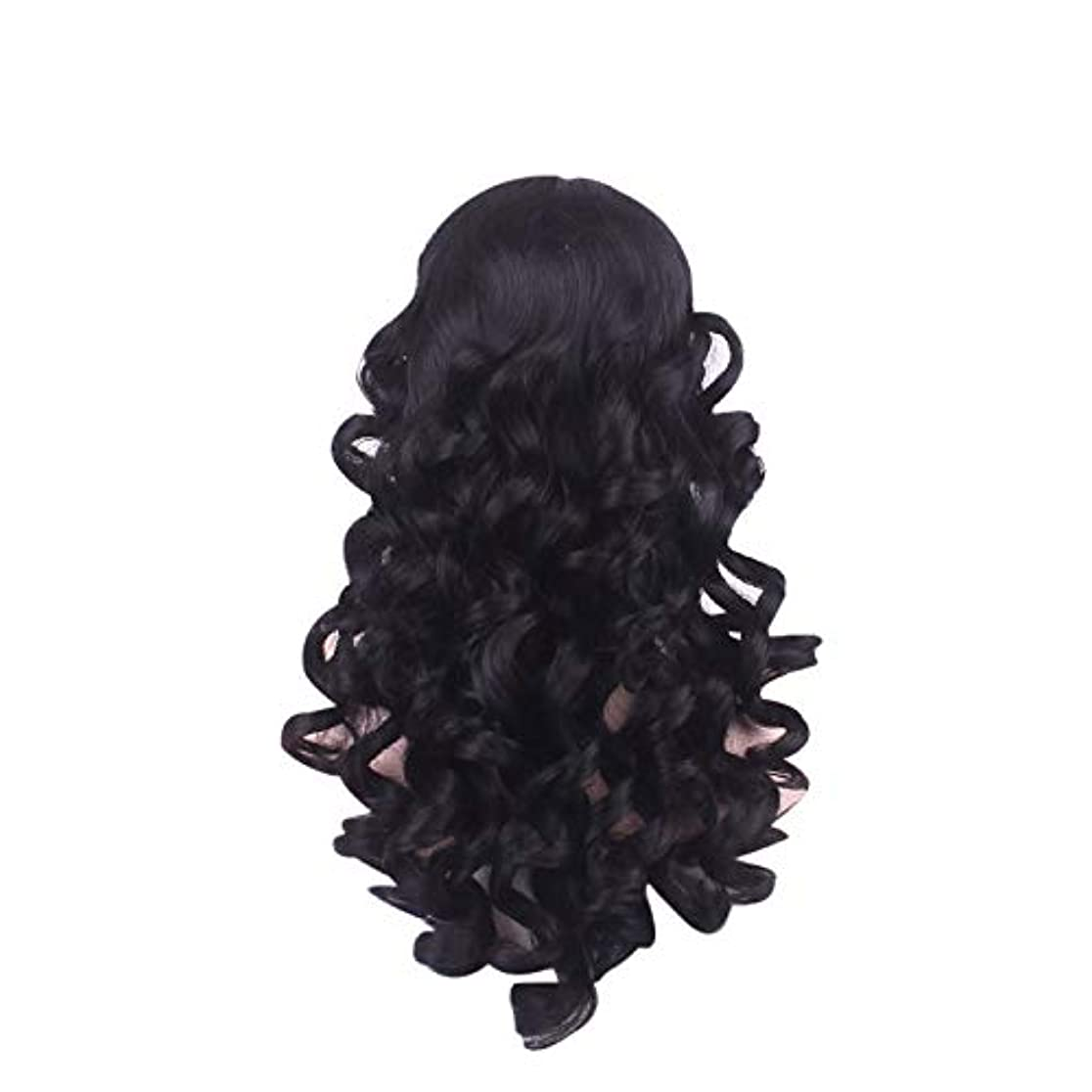 ミットスコアライン女性の長い巻き毛のファッションかつらローズネット65 cm