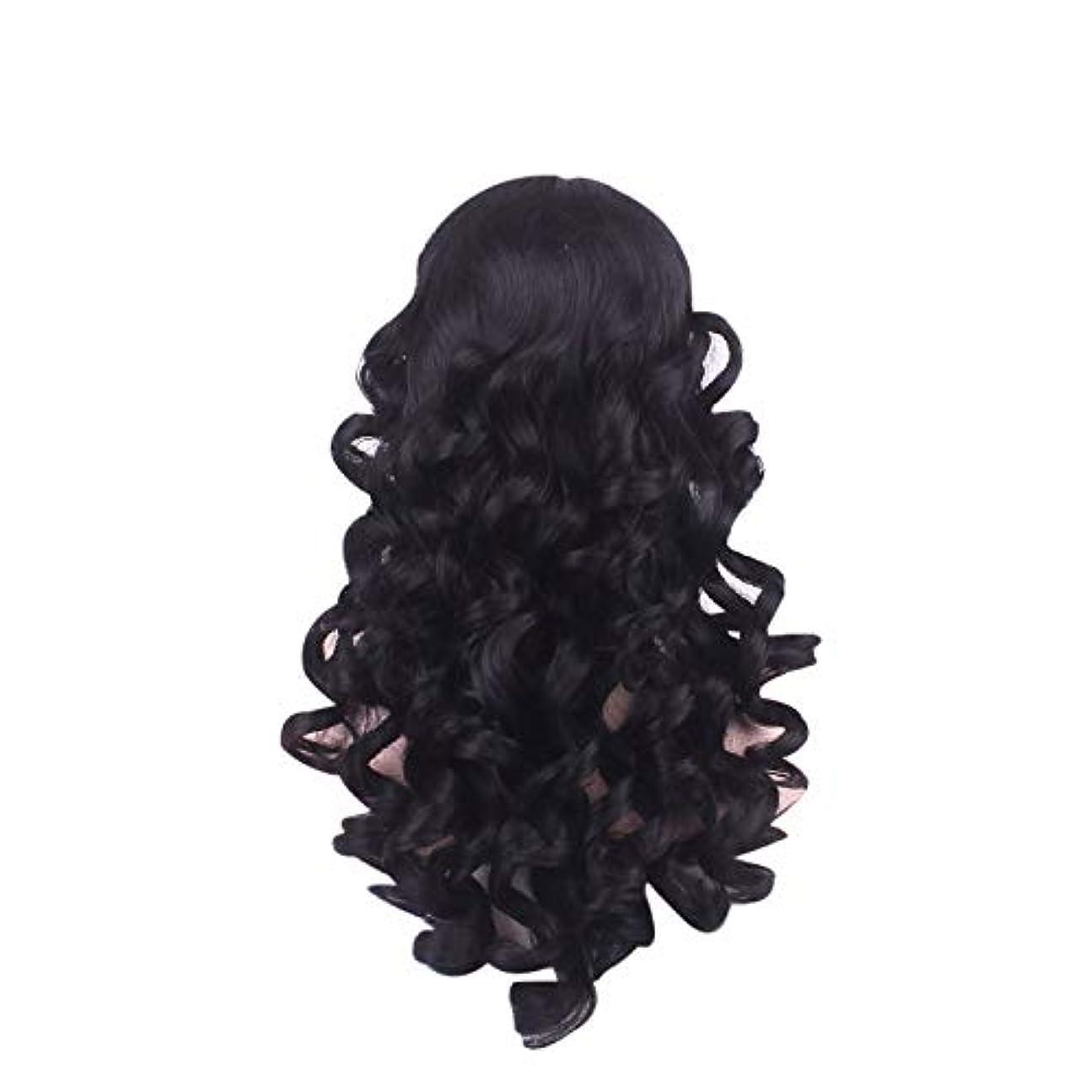 哀れなシャークコントロール女性の長い巻き毛のファッションかつらローズネット65 cm