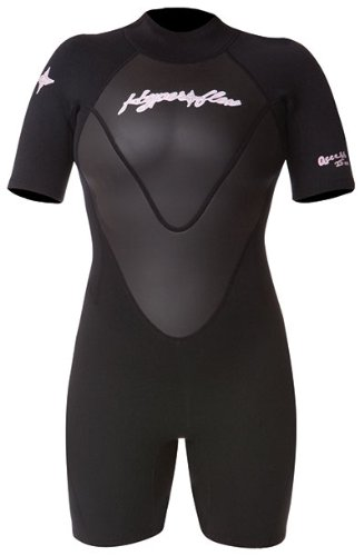 Hyperflex Wetsuits Women's Access 2.5mm Spring Suit, Black/Black, 8 - Surfing, Windsurfing & Kiteboarding