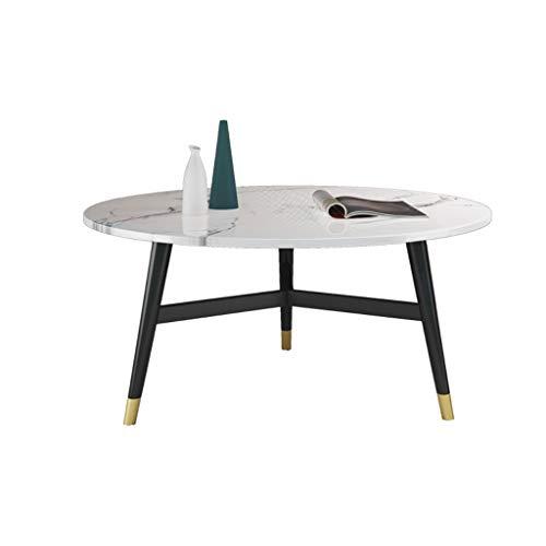 Tavolini da caffè per soggiorno Tavolino minimalista nordico tavolino marmo luce di lusso piccolo appartamento soggiorno stoccaggio tavolo da tè tondo doppio tavolino da caffè combinazione Tavolino da