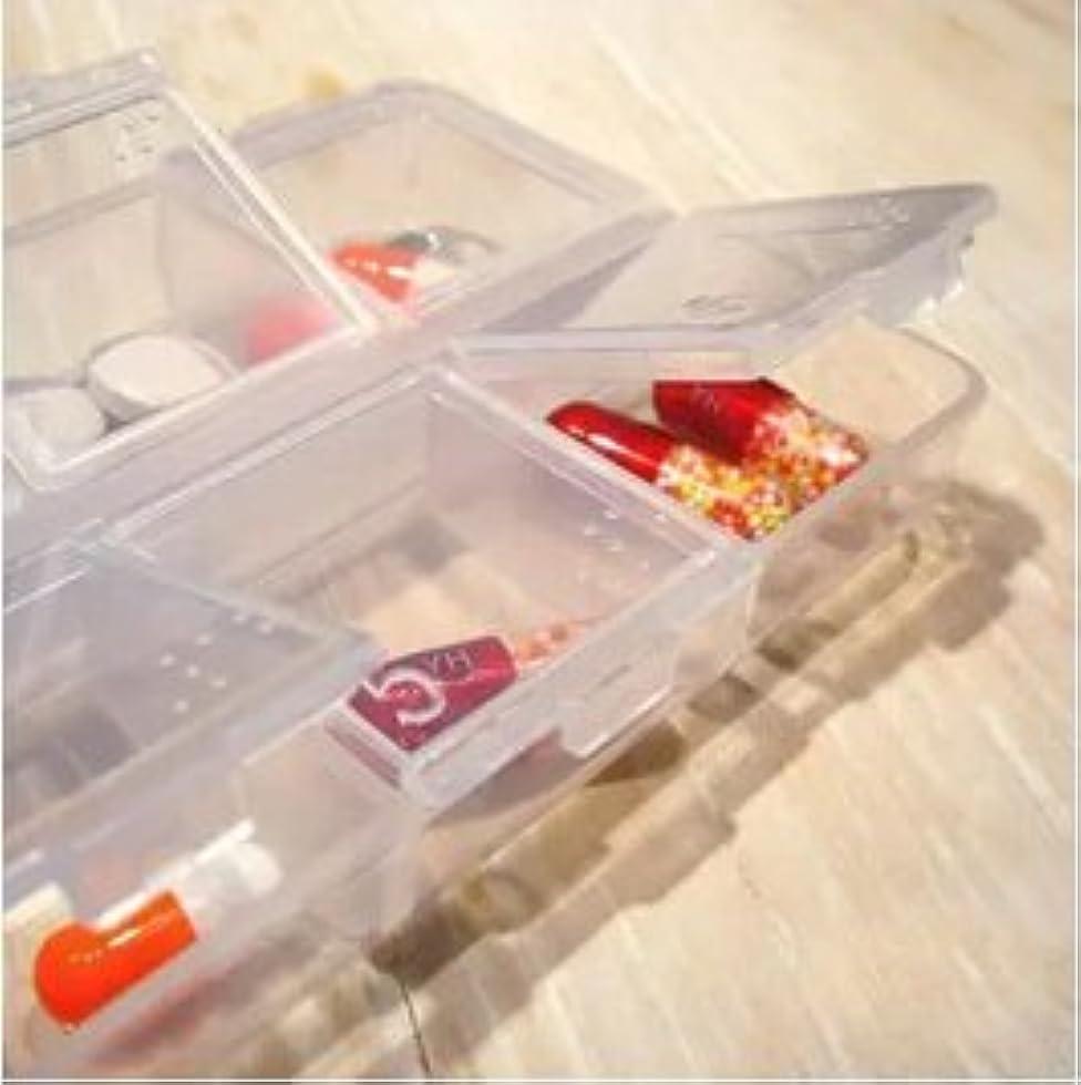 殺人者商標リーLorny (TM) 【送料無料】6スロット透明なプラスチックピルボックス医学オーガナイザー多機能ピルケースポータブルストレージボックス [並行輸入品]