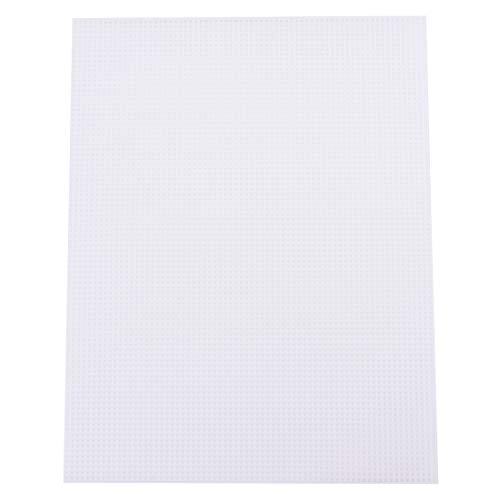 """Tosnail 20 Pack 7 Count Clear Plastic Mesh Canvas Sheets for Embroidery Crafting - 10.5"""" x 13.5"""""""